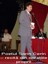 Poetul Sorin Cerin – recită din creaţiile proprii