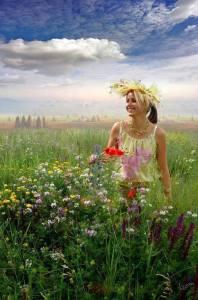 Fata lanului de flori