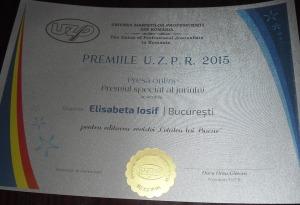 FOTO Gala Premiilor UZPR - Elisabeta IOSIF Premiul de excelen_ă